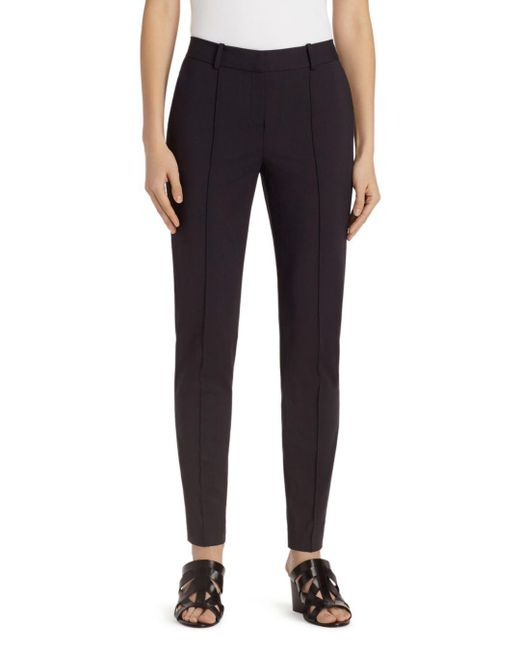 Lafayette 148 New York Black Seamed Skinny Ankle Pants