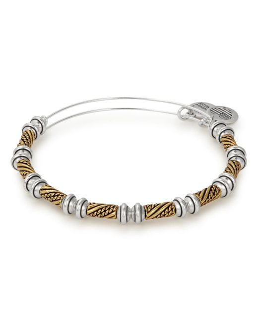 ALEX AND ANI - Metallic Quill Two-tone Expandable Wire Bangle - Lyst