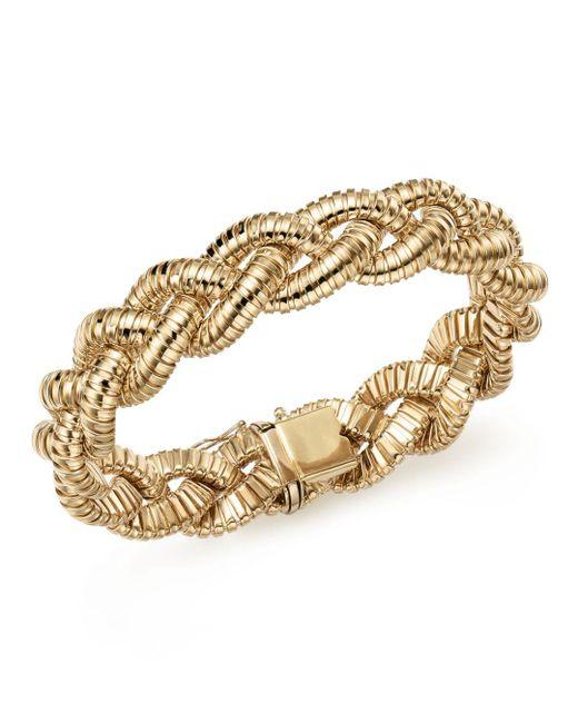 Bloomingdale's Metallic 14k Yellow Gold Braided Tubogas Bracelet
