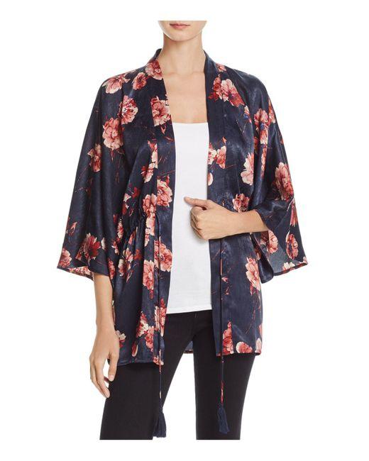 Cotton Candy | Purple Floral Print Kimono | Lyst