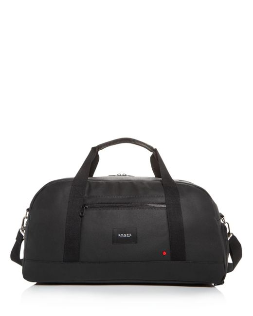 State Black Franklin Coated Canvas Duffel Bag for men