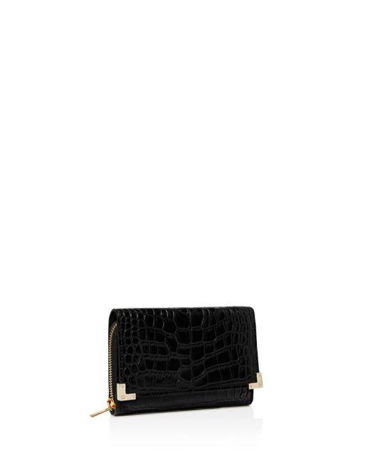The Kooples - Black Croc-embossed Leather Wallet - Lyst