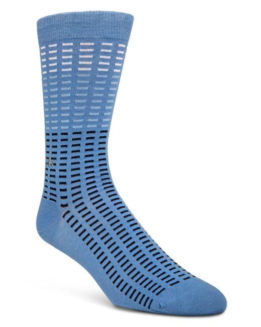 Calvin Klein - Blue Tile-print Socks for Men - Lyst