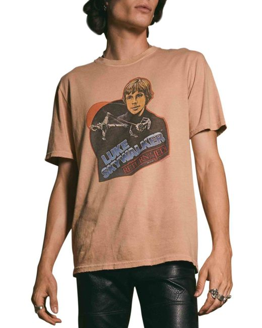 Junk Food Multicolor Distressed Star Wars Graphic Tee for men