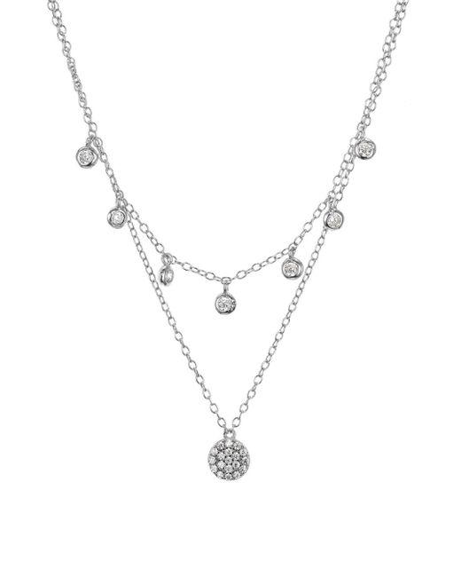 Aqua - Metallic Sterling Silver Layered Pendant Necklace - Lyst