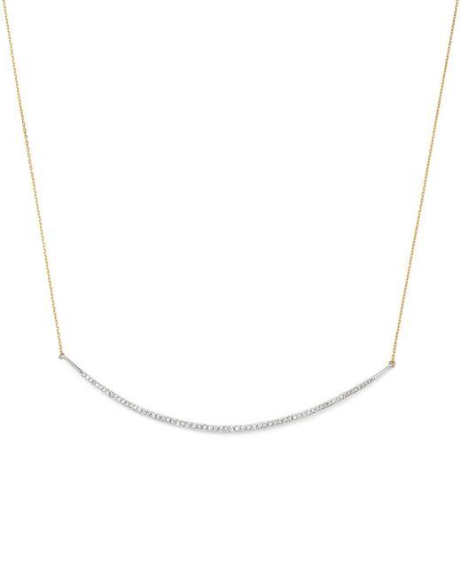 Adina Reyter Metallic Sterling Silver & 14k Yellow Gold Pavé Diamond Curve Choker Necklace