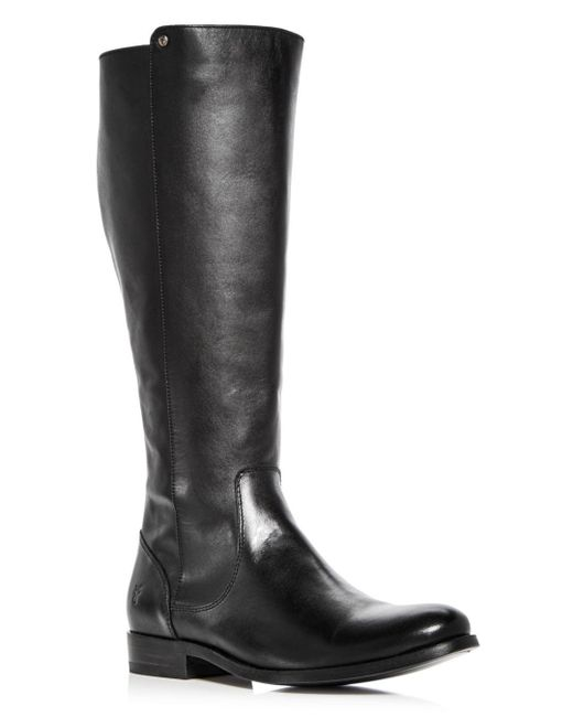 Frye - Black Women's Melissa Stud Leather Tall Boots - Lyst