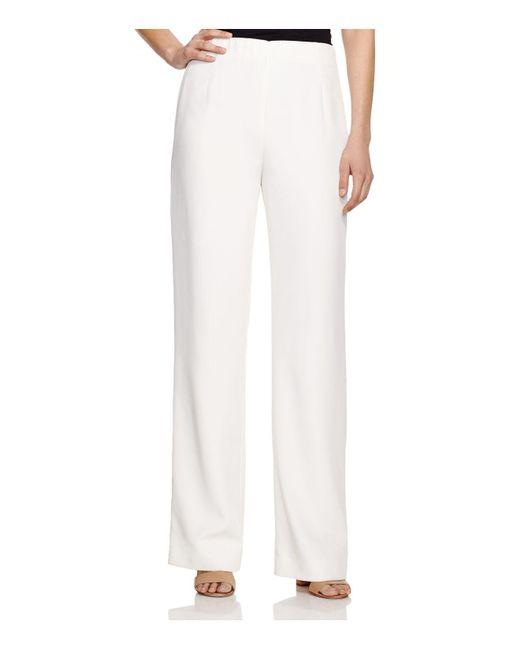 Lafayette 148 New York | White Studio Wide Leg Pants | Lyst