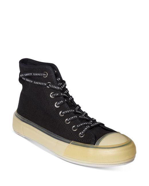 AllSaints Black Jaxal High Top Sneakers
