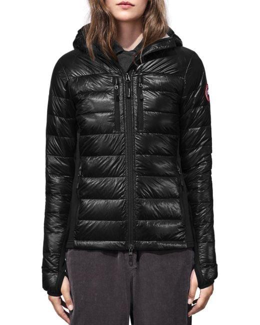 Canada Goose Black Hybridge Light Hooded Jacket