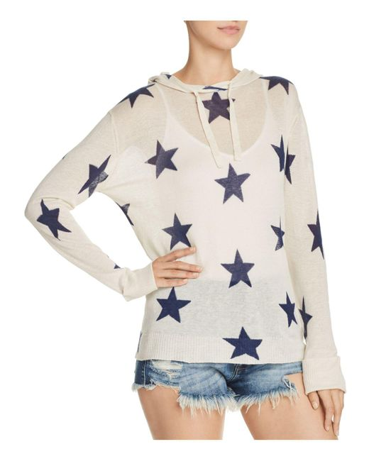 Aqua - Multicolor Star Hooded Sweater - Lyst