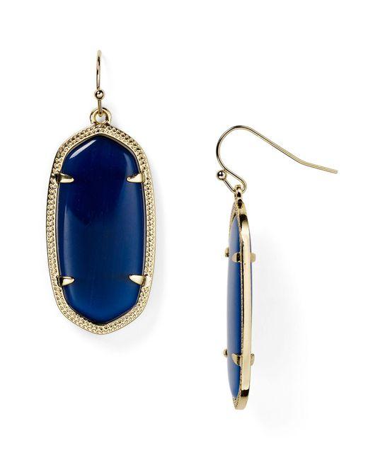 Kendra Scott | Blue Elle Earrings | Lyst