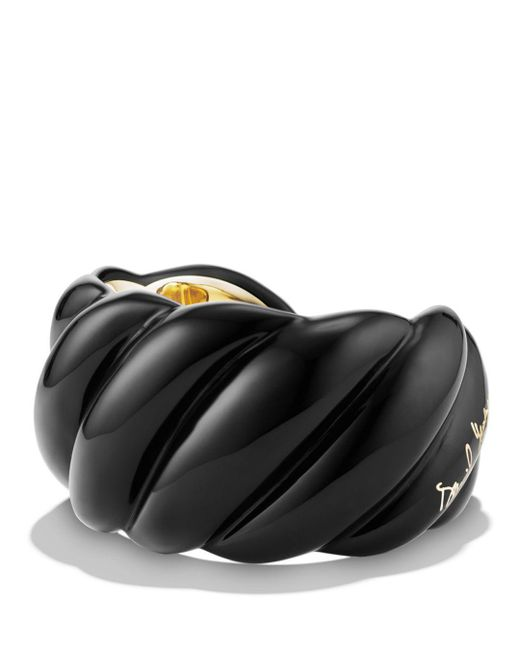 David Yurman - Black Resin Cable Cuff Bracelet - Lyst