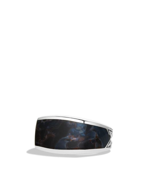 David Yurman | Metallic Exotic Stone Three-sided Ring With Pietersite for Men | Lyst