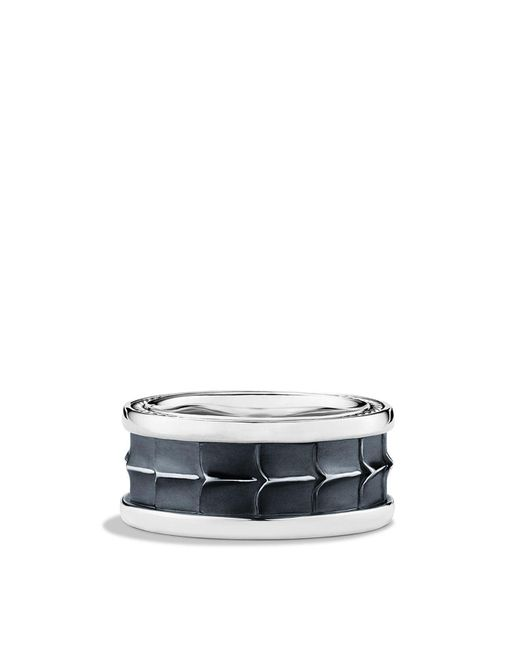 David Yurman | Metallic Armory Wide Band Ring for Men | Lyst