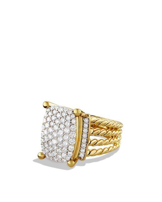 David Yurman | Yellow Wheaton Ring With Diamonds In Gold | Lyst