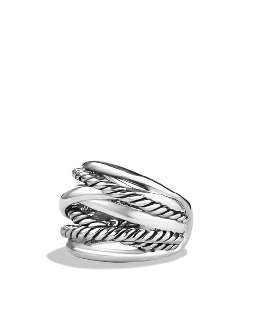 David Yurman | Metallic Crossover Wide Ring | Lyst
