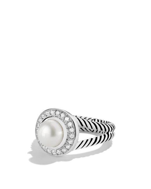 David Yurman   Metallic Petite Cerise Ring With Pearl & Diamonds   Lyst