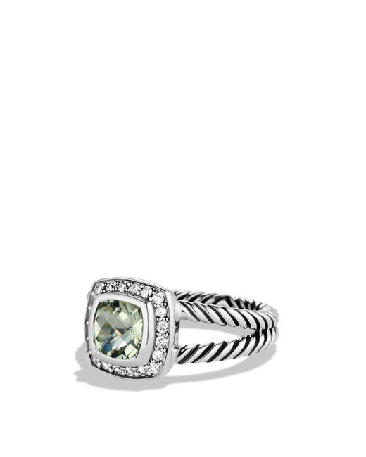 David Yurman | Metallic Petite Albion Ring With Prasiolite & Diamonds | Lyst