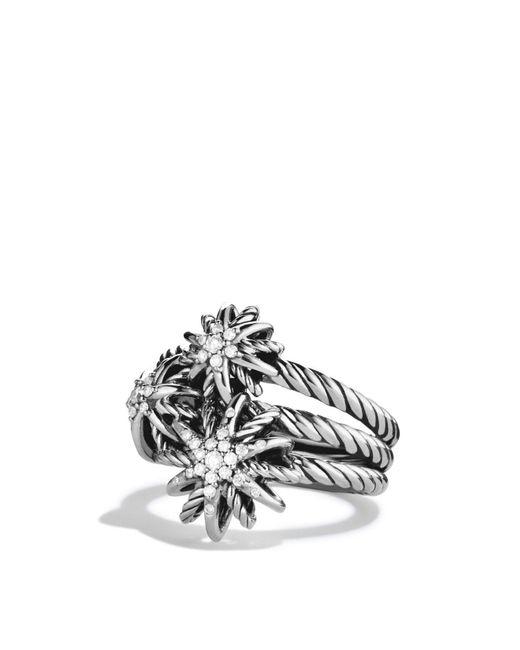 David Yurman | Metallic Starburst Cluster Ring With Diamonds | Lyst