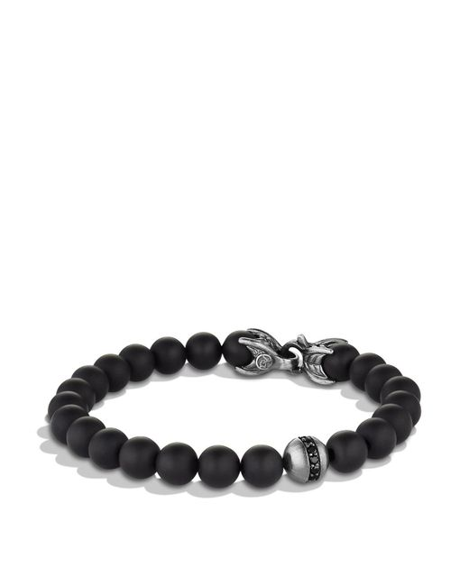 David Yurman | Metallic Spiritual Beads Bracelet With Black Onyx & Black Diamonds for Men | Lyst