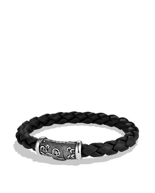 David Yurman | Metallic Waves Bracelet In Black for Men | Lyst
