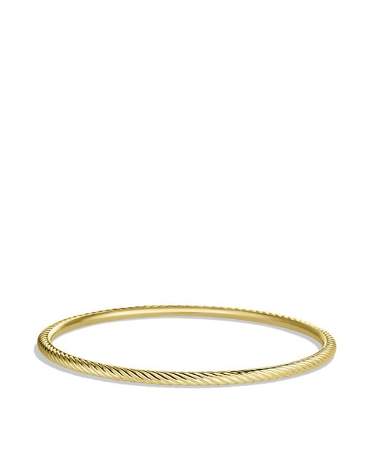 David Yurman | Yellow Cable Classics Bangle In Gold | Lyst