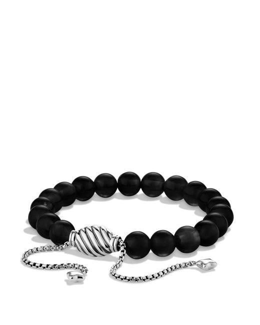 David Yurman   Metallic Spiritual Beads Bracelet With Black Onyx   Lyst