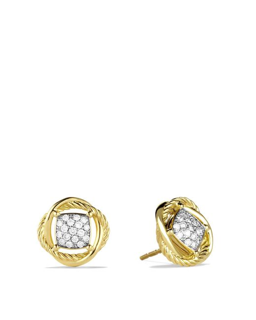 David Yurman | Yellow Infinity Earrings With Diamonds | Lyst