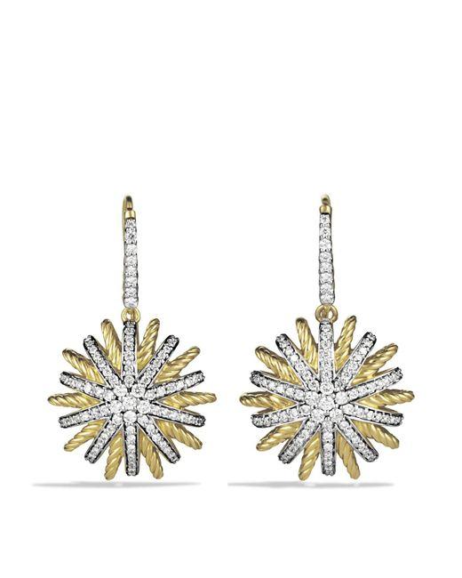 David Yurman   Yellow Starburst Drop Earrings With Diamonds   Lyst