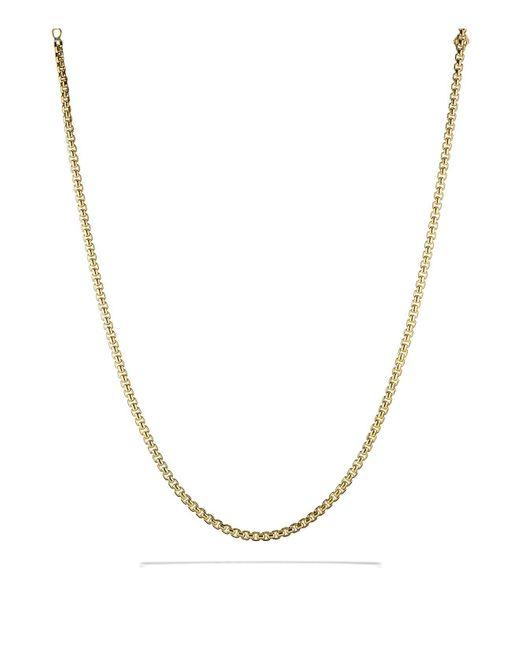 David Yurman | Yellow Medium Box Chain In Gold | Lyst