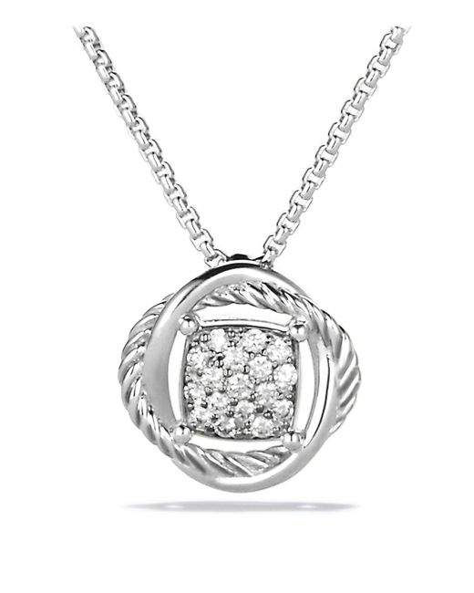 David Yurman | Metallic Infinity Pendant With Diamonds On Chain | Lyst