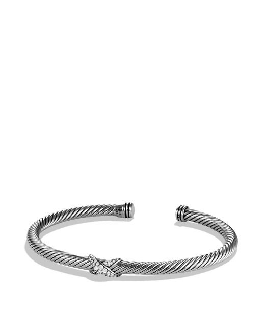 David Yurman | Metallic X Bracelet With Diamonds | Lyst