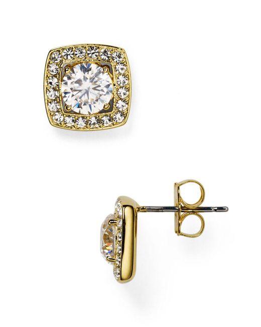 Nadri - Metallic Swarovski Crystal Stud Earrings - Lyst