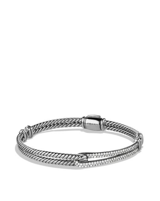 David Yurman | Metallic Petite Pavé Labyrinth Single-loop Diamond Bracelet | Lyst