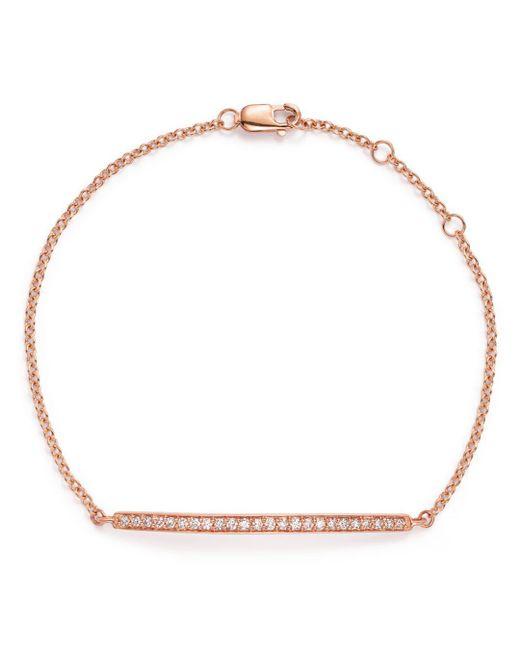Bloomingdale's - Multicolor Diamond Bar Bracelet In 14k Rose Gold, .25 Ct. T.w. - Lyst