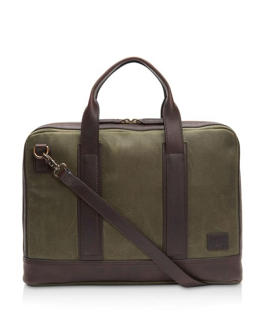 Frye - Green Carter Slim Briefcase for Men - Lyst