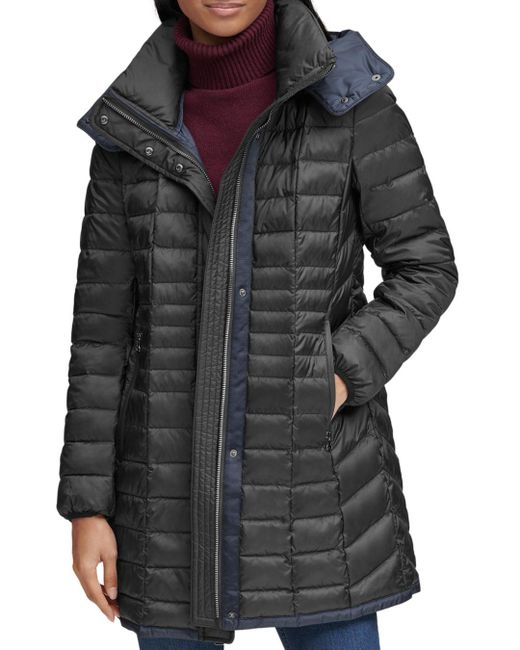 Marc New York Black Marble Puffer Coat
