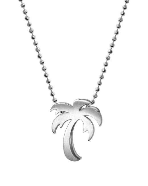 Alex Woo Metallic Silver Cities Palm Tree Necklace