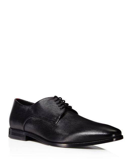 BOSS - Black Men's Highline Emed Derby Plain Toe Oxfords for Men - Lyst