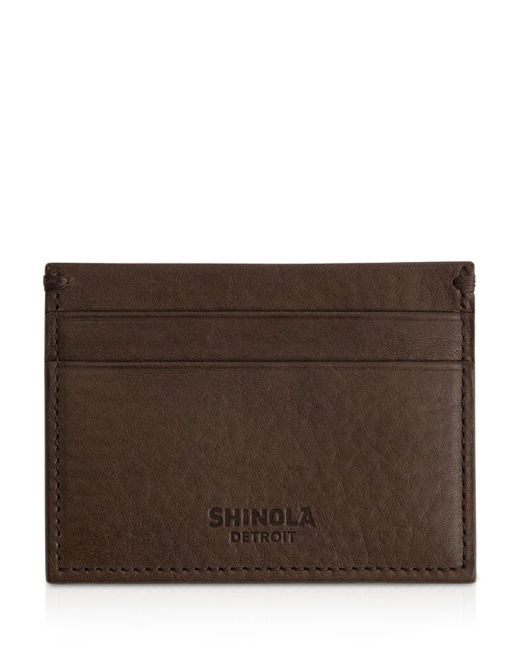 Shinola Brown Leather Card Case