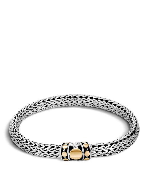 John Hardy Metallic Sterling Silver & 18k Bonded Gold Dot Medium Chain Bracelet