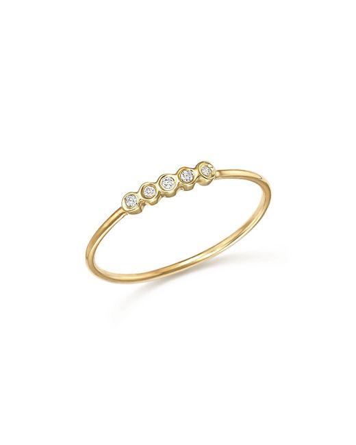Zoe Chicco | Metallic Diamond Bezel Ring | Lyst