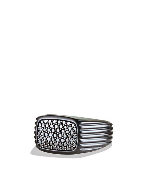 David Yurman | Royal Cord Ring With Black Diamonds for Men | Lyst