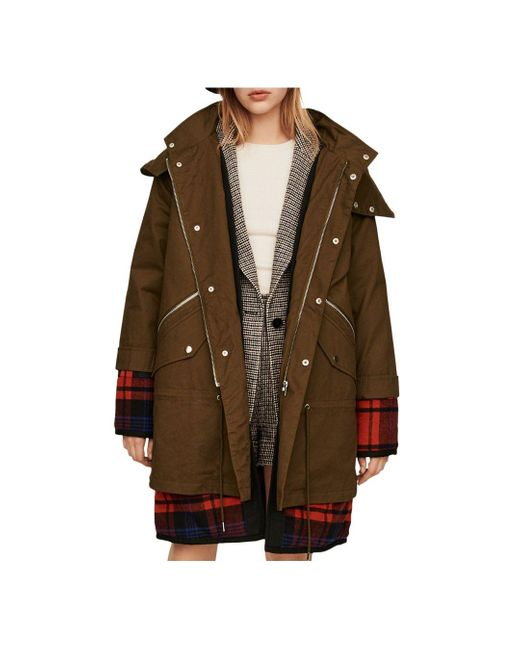 Maje Multicolor Gapo Plaid Underlay Coat