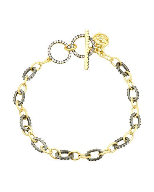 Freida Rothman - Metallic Two-tone Toggle Bracelet - Lyst