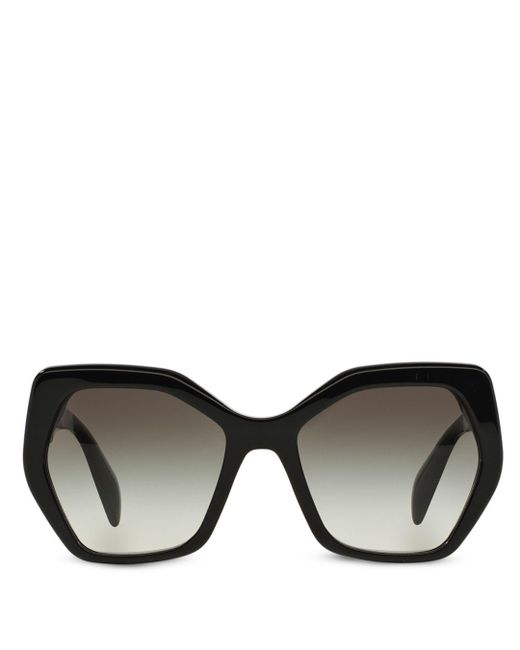 Prada Black Women's Oversized Geometric Sunglasses