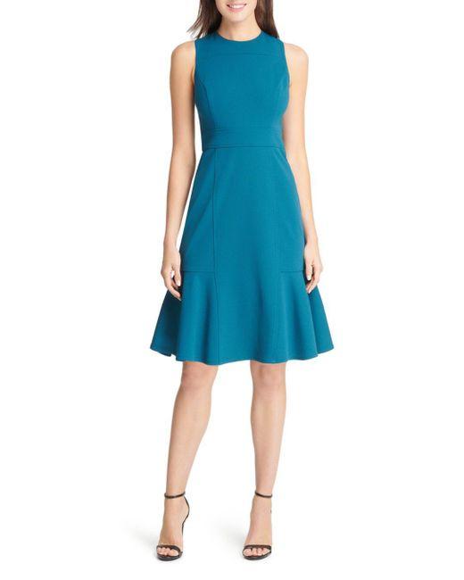 Eliza J - Blue Flounced-hem Dress - Lyst