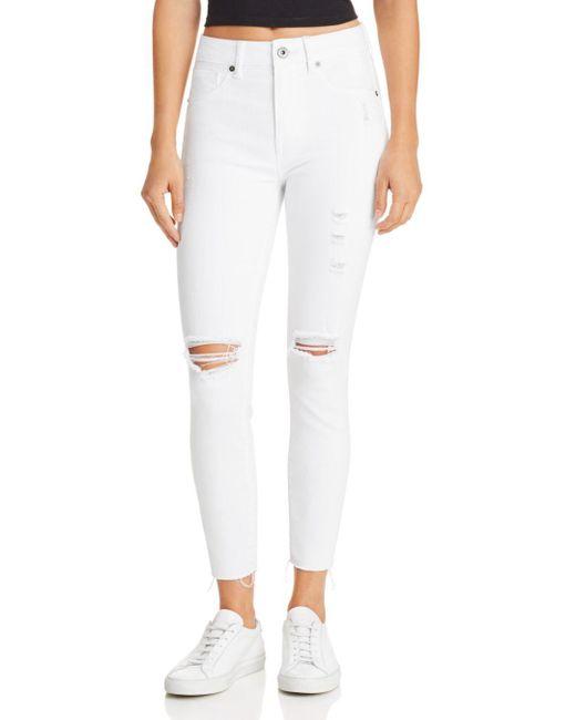 Pistola - High-rise Skinny Jeans In White Ferrari - Lyst