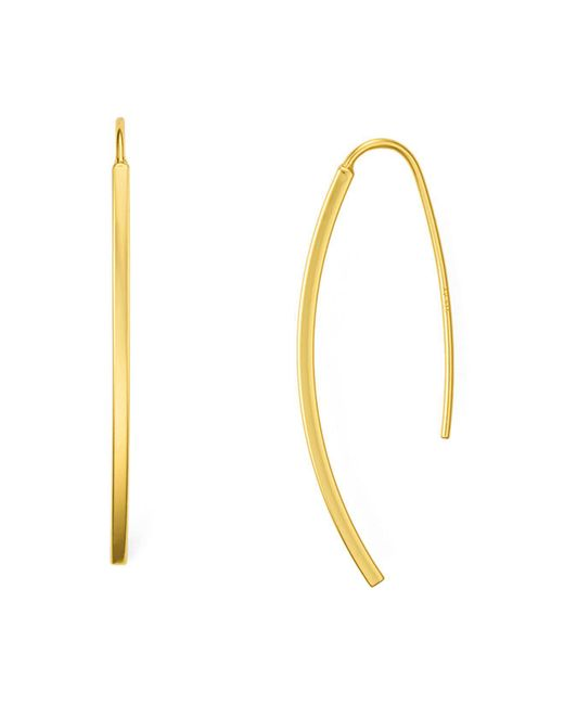 Argento Vivo | Metallic Mini Vine Threader Earrings | Lyst
